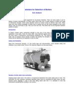 Parameters Boilers