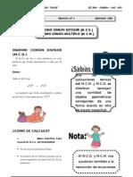 III BIM - 2do. Año - Guía 6 - MCD - MCM