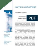Bogdan Koszel - Partnerstwo dla modernizacji – niemiecki sukces czy porażka?