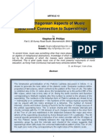 Pythagorian Aspects of Music & their Relations To Superstrings