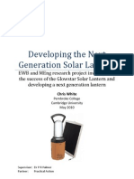 Developing the Next Generation Solar Lantern