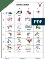 Olympic Sport Vocabulary