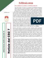 Newsletter di FEBBRAIO 2013 del Gruppo Consiliare PD di Zona 7-Milano