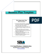 Business Plan Template (1)