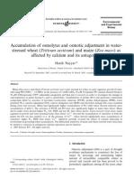 Accumulation of Osmolytes