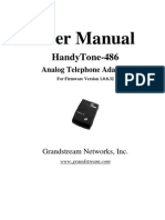 Grandstream HT-486 User Manual