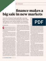 Islamic finance makes a big sale in new markets
