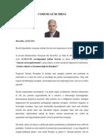 COMUNICAT de PRESA - Conferinta Cauzele Euroscepticismului