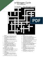 Nitrogen Cycle Crossword