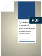 Optimisation of household Slow sand filters