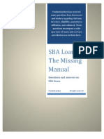SBA Loans - The Missing Manual
