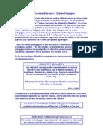 Conceptualización de Corrientes Educativas y Modelos Pedagógicos