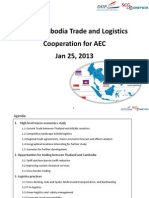 Logistic Opportunities for Collaboration Between Cambodia and Thailand 20012013 Final
