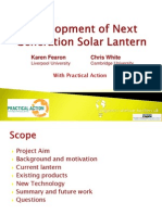 Developing a next generation solar lantern