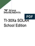 TI-30Xa SOLAR School Edition