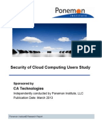 Ponemon Institute - Cloud Security Study 2012