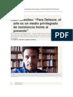 Alain Beaulieu - Para Deleuze, El Arte Es...