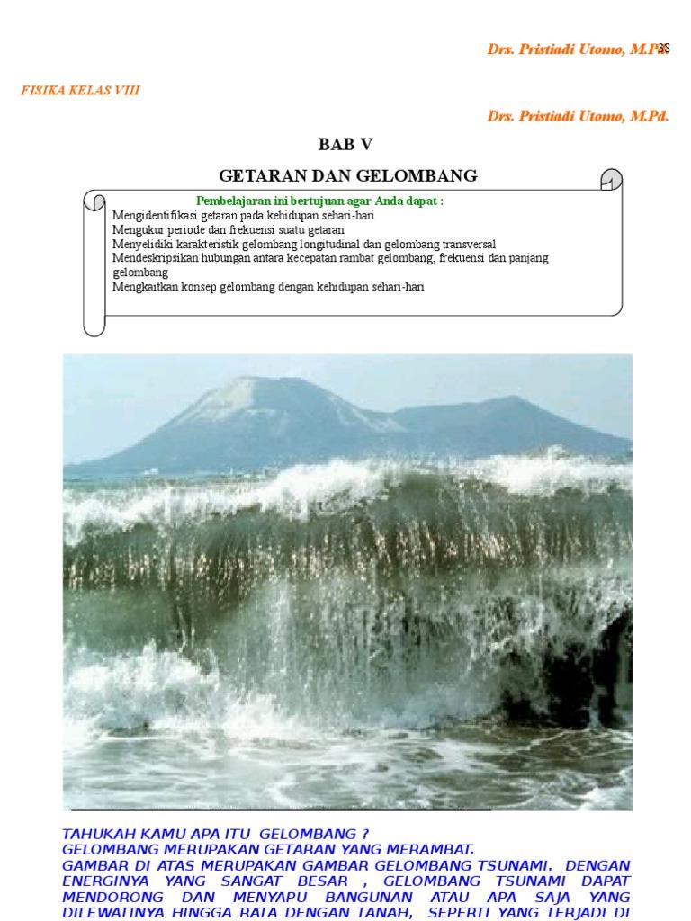 Materi Smp Kelas 8 Bab V Getaran Dan Gelombang