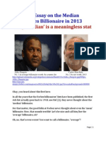 An Essay on the Median Forbes 2013 Billionaire