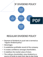 Types of Dividend Policy