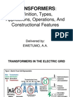 Lecture.1 =Transformers-Definitions, Optrns & Construction