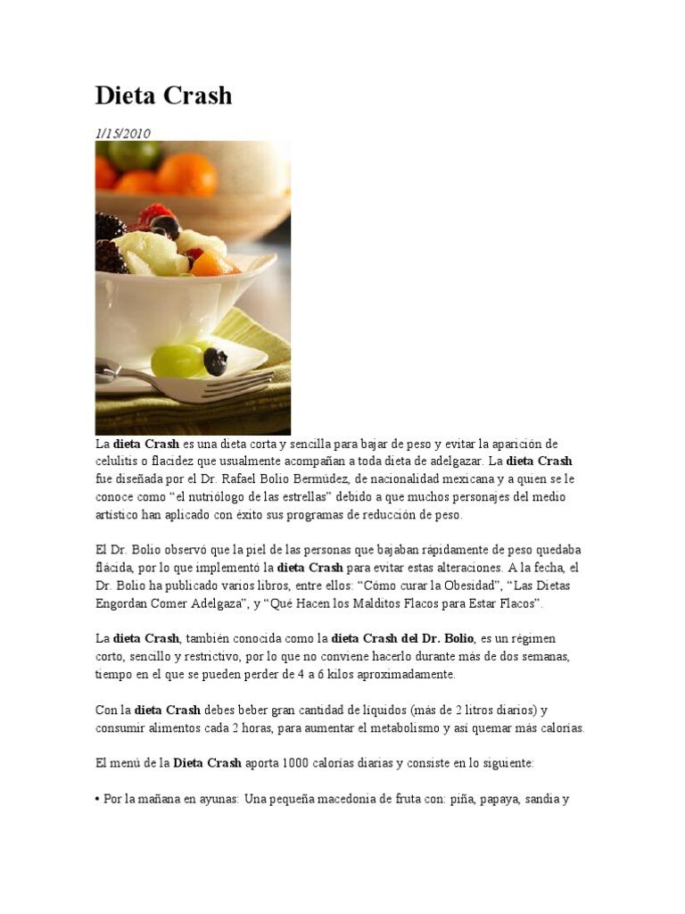 Dieta del doctor bolio para bajar de peso en una semana