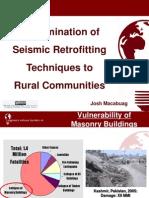Dissemination of Seismic Retrofitting Techniques to Rural Communities