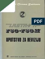 Zastava 750-750M Uputstvo Za Reviziju IX 1970