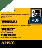 American Parliamentary Debating Tournament