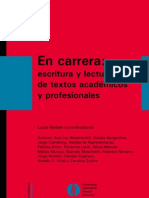 Libro completo En carrera 2012 - Sobre Lectura y escritura académica