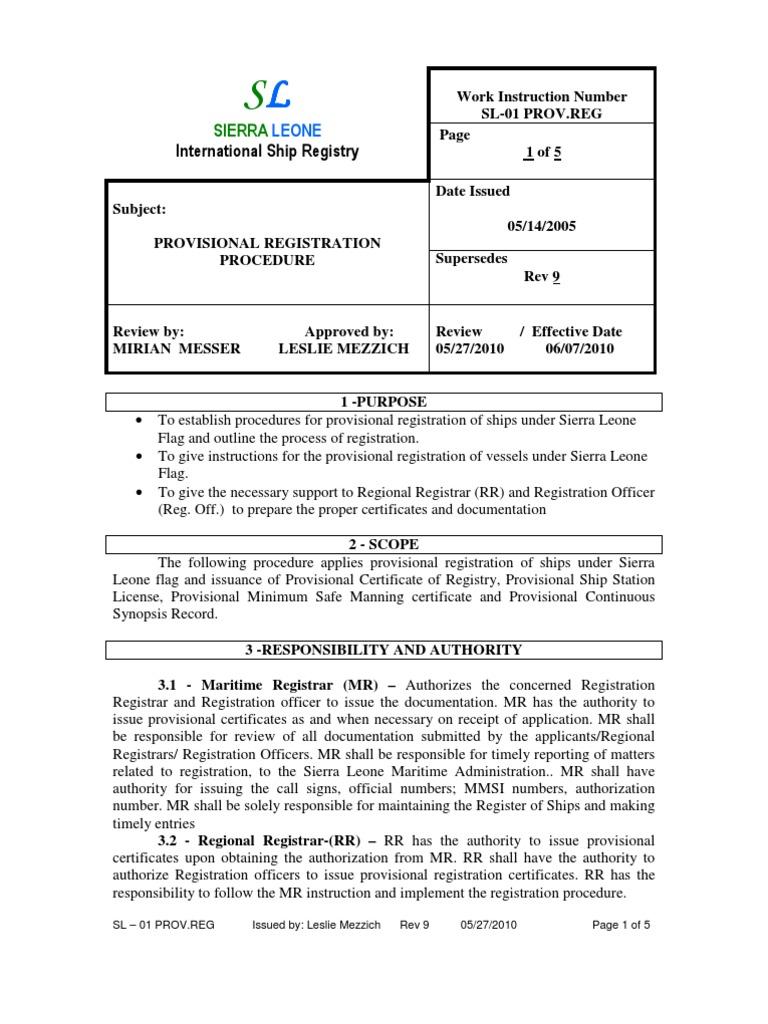 Sl 01 Prov Reg Provisional Registration Public Key Certificate