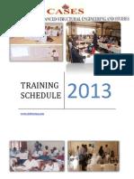 Workshop Schedule for 2013