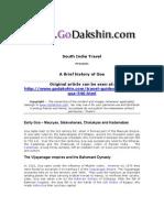 A brief History of Goa