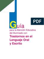 15610635 El Alumno Con Trastornos en El Lenguaje Oral y Escrito