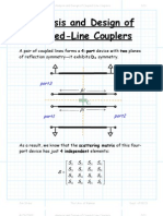 Analysis and Design of Coupled Line Couplers