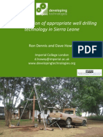 The application of appropriate well drilling technology in Sierra Leone