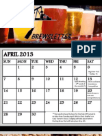 Basin Brewers Brewsletter, April 2013
