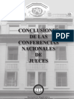Conclusiones Conferencia Nacional de Jueces Final