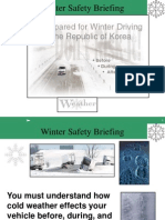 Winter Driving in Korea