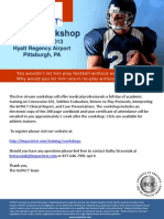 418 Pittsburgh.workshop .Live Stream Info .Sheet April 2013 97077