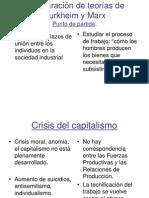 Comparacion de Teorias de Durkheim y Marx 1