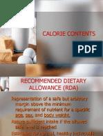 Calorie Contents