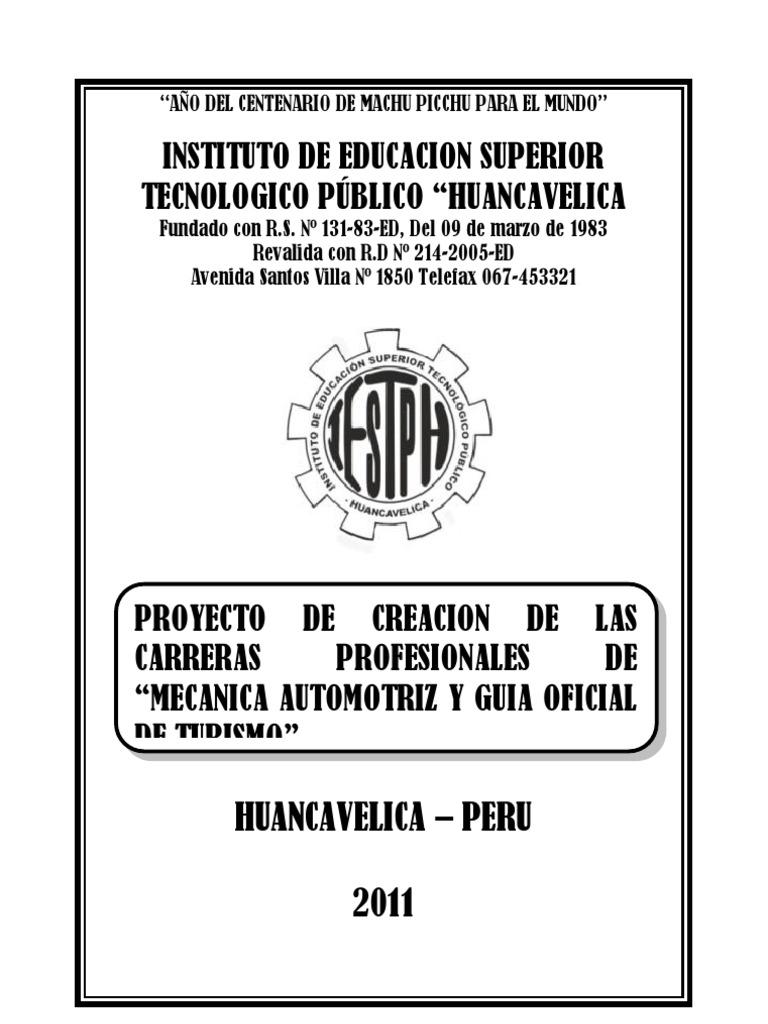 Proyecto Creacion de Mecanica Automotriz y Guia de Turismo ec781855763
