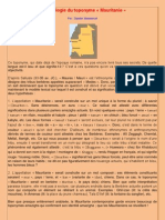 "Etymologie de ""Mauritanie"""