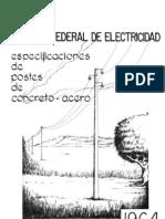 4 Especificaciones de Postes de Concreto - Acero