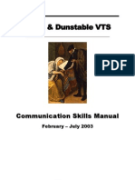 Calgary Cambridge Communication Skills Manual (Detailed)