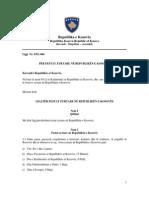 Ligji Per Festat e Zyrtare Ne Republiken e Kosoves
