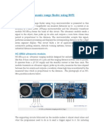 Ultrasonic Range Finder Using 8051