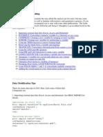 SAS Tips for Data Handling