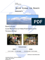 Innovative Water Scheme for Remote Nepalese Community